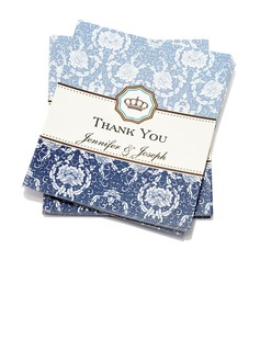 Personalized Floral Style Thank You Cards (Set of 50)