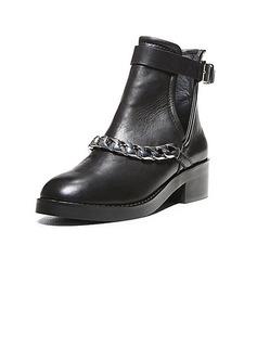 Real Leather Low Heel Ankle Boots Riding Boots With Chain shoes