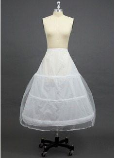 Women Tulle Netting/Polyester Floor-length 2 Tiers Petticoats