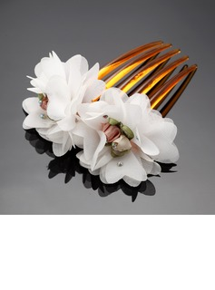 Lovely Artificial Silk/Plastic Combs & Barrettes