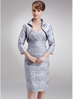 3/4-Length Sleeve Taffeta Special Occasion Wrap
