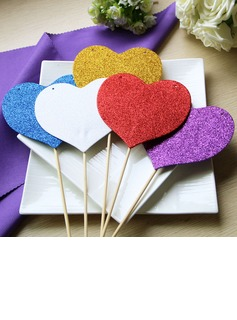 Heart Design Sponge Photo Booth Props (5 pieces)