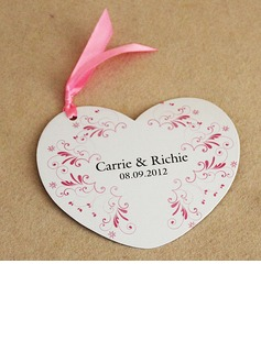 Personalized Floral Design Paper Invitation Cards With Ribbons (Set of 50)