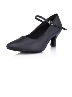 Real Leather Heels Pumps Modern Dance Shoes