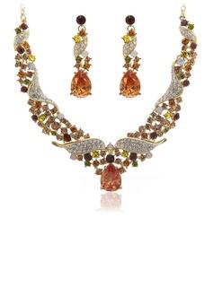 Moda Aleación con Cristal Señoras' Sistemas de la joyería