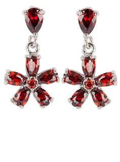 Fancy Zircon/Platinum Plated Women's Earrings