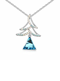 Crystal/Platinum Plated Ladies' Necklaces