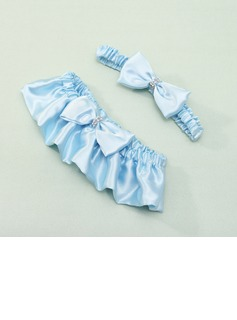 2-Piece Amazing Satin With Rhinestone Wedding Garters