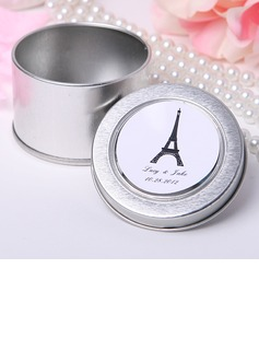Personalized Eiffel Tower Design Tins Favor Tin (Set of 12)