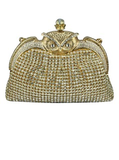 Shining Crystal/ Rhinestone With Pearl Clutches (012040754)