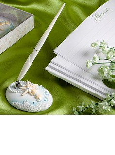 Beach Themed Wedding Pen Set In Resin (101020365)