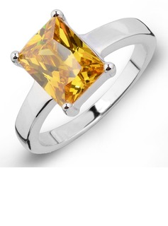 Nice Zircon/Platinum Plated Ladies' Rings