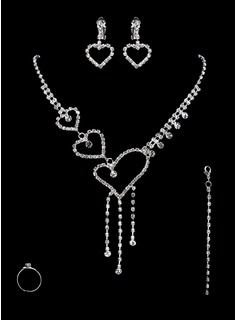 Jewelry Sets Anniversary Wedding Engagement Birthday Gift Party Alloy Silver Jewelry With Rhinestone (011017874)