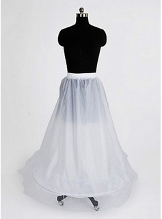 Nylon A-Line Full Gown 1 Tier Floor-length Slip Style/ Wedding Petticoats (037024160)