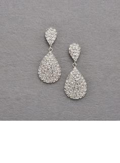 Moda Aleación con Cristal Señoras' Pendientes