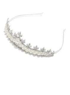 Amazing Alloy/Imitation Pearls Tiaras