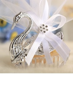 Swan design Favor Holders With Ribbons (Set of 12)