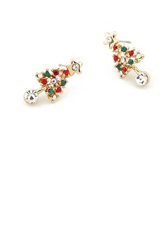 Alloy/Rhinestones Ladies' Earrings