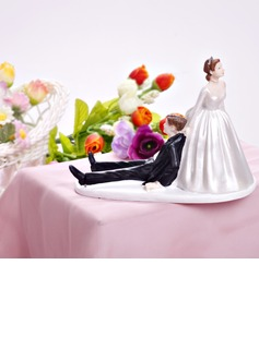 Bride And Groom Resin Wedding Cake Topper