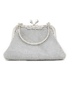 Gorgeous Rhinestone With Metal Clutches/Top Handle Bags