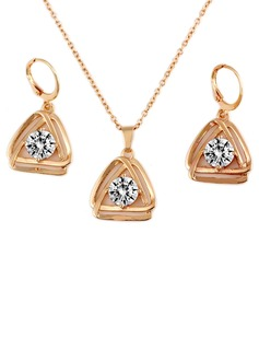 Stylish Metal With Zircon Women's Jewelry Sets