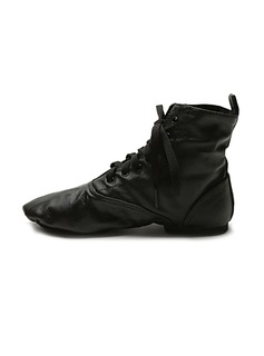 Unisex Real Leather Boots Jazz Ballroom Dance Shoes