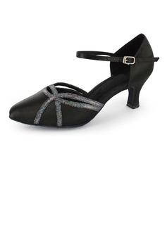 De mujer Satén Brillo Chispeante Tacones Moderno con Tira de tobillo Zapatos de danza