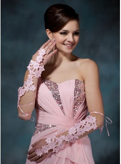 Polyester Elbow Length Party/Fashion Gloves