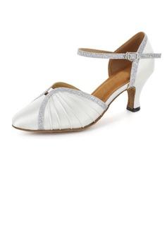 De mujer Satén Brillo Chispeante Tacones Salón Moderno Sala de Baile Matrimonio Zapatos de danza