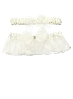 2-Piece Simplicity Organza With Beading Wedding Garters