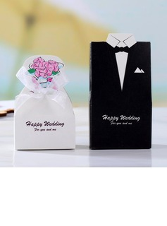Tuxedo & Gown Favor Boxes With Ribbons