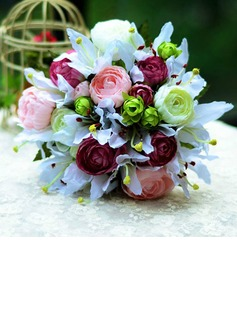 Vivifying Round Satin Bridal Bouquets