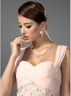 Crystal Bouquet Bridal Necklace And Earring Set(011006977)