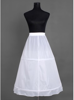 Women Nylon Floor-length 1 Tiers Petticoats