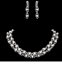 Gorgeous Alloy With Pearl Women's Jewelry Sets