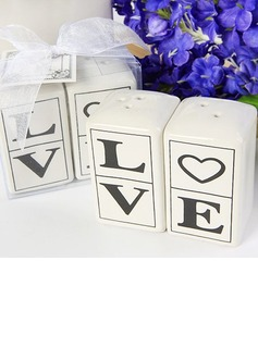 """Love"" Ceramic Salt & Pepper Shakers (Set of 2 pieces)"