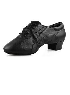 Men's Kids' Real Leather Flats Latin Ballroom Dance Shoes