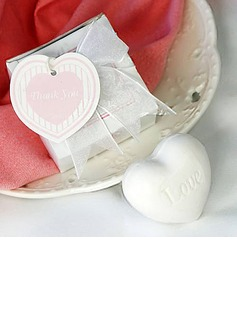 White Heart Soap Wedding Favor (051013745)