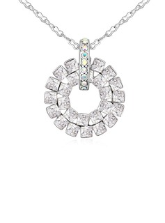 Beautiful Crystal/Platinum Plated Women's/Ladies' Necklaces