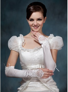 Spandex Elbow Length Bridal Gloves