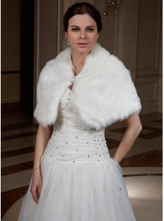 Faux Fur Wedding Wrap