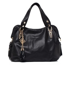 Refined PU With Tassels Top Handle Bags