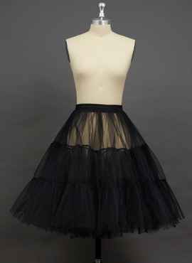 Women Tulle Netting Knee-length 2 Tiers Petticoats (037033999)
