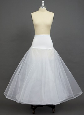 Women Tulle Netting/Polyester/Spandex Floor-length 2 Tiers Petticoats (037033977)
