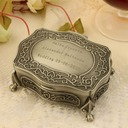 Personalized Floral Design Zinc Alloy Jewelry Holders