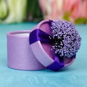 Classic Cylinder Favor Boxes With Flowers (Set of 12) (050038237)