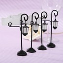Street Lamp Zinc Alloy/Resin Place Card Holders (Set of 4) (051024165)