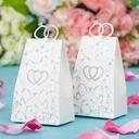 Double Heart Handbag shaped Favor Boxes  (050038232)