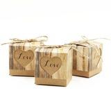 Elegant Cubic Favor Boxes (Set of 12)