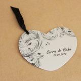 Design de fleur Papier Cartes d'invitations avec Rubans (Lot de 50)